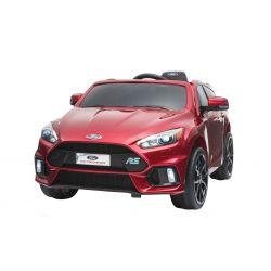 Elektromos kisautó Ford Focus RS, Piros Lakkozott, 12V, EVA kerekek, műbőrözött ülés, 2,4 GHz távirányító, 2 X MOTOR, USB, Bluetooth, Rádió