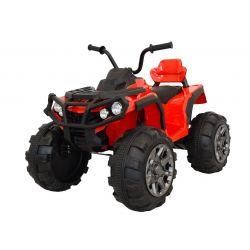 HERO 12V elektromos quad, piros, puha EVA kerekek, 2,4 GHz távirányító, műbőr ülés, lengéscsillapított, 12V7Ah akkumulátor