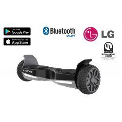 """Hooboard GO! - Terep Hoverboard, Önegyensúlyozó Jármű, 500W, Li-Ion LG Akkumulátor, UL tanúsítvány, fekete, 6,5"""" kerék, Ajándék Táska, Mobil Alkalmazás, Alumínium Váz"""