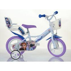 """DINO kerékpárok - Gyerek kerékpár 12 """"124RLFZ3 baba üléssel és kosárral - fagyasztva 2 2019"""
