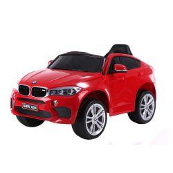 Elektromos kisautó gyerekeknek BMW X6M ÚJ – Egyszemélyes, Eredeti Liszensz, 2,4 GHz távirányító, Nyitható ajtók, Bőr ülés, EVA kerekek, piros, 12V,  2 X MOTOR