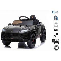 Elektromos játékautó Lamborghini Urus, 12 V, 2,4 GHz távirányító, USB / SD bemenet, lengéscsillapított, nyitható ajtók, puha EVA kerekek, 2 X MOTOR, fekete, Eredeti liszensz
