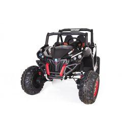 Elektromos Kisautó gyerekeknek NEW RSX 2x12V 4 Kerék Meghajtás, fekete, 2x12V EVA Kerék, széles 2 személyes ülés, Indítókulcs, 2,4 GHz távirányító, 4 X MOTOR, USB, SD kártya