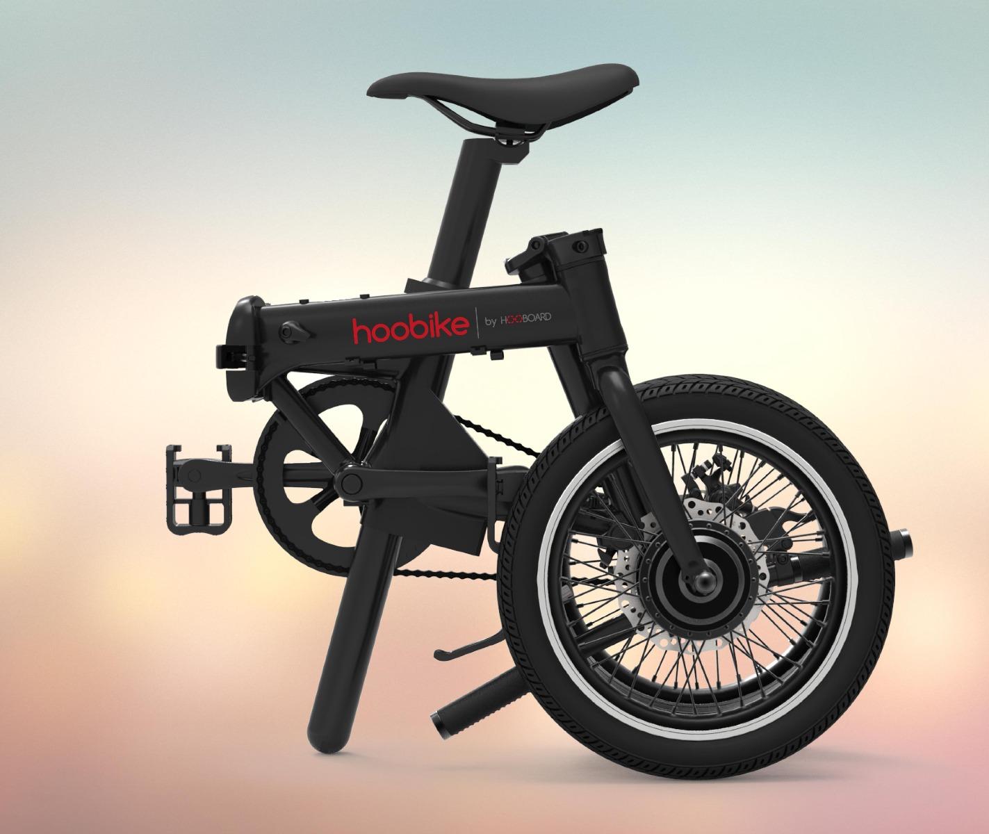hoobike folded 01 Elektromos Kerékpár Hoobike Összecsukható Li Ion Akkumulátor